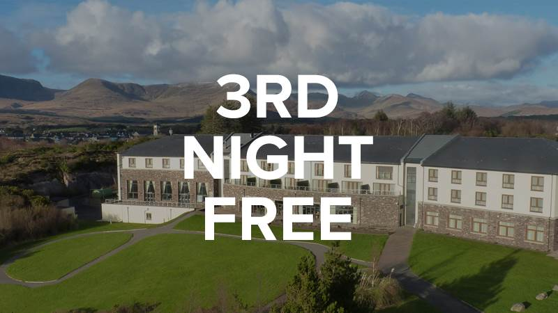 Stay 2 Nights Midweek, get 3rd night free, from €109 per person